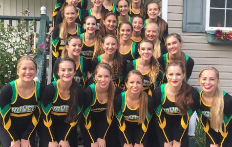 HHS Pom performs with Hartland