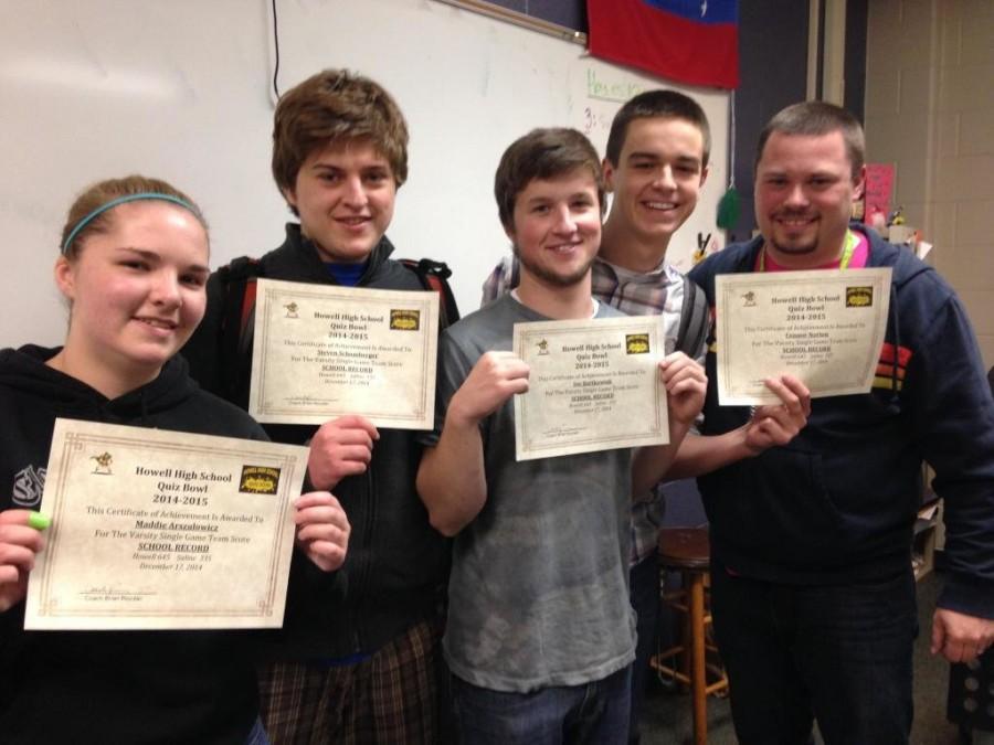 Quiz bowl team breaks record