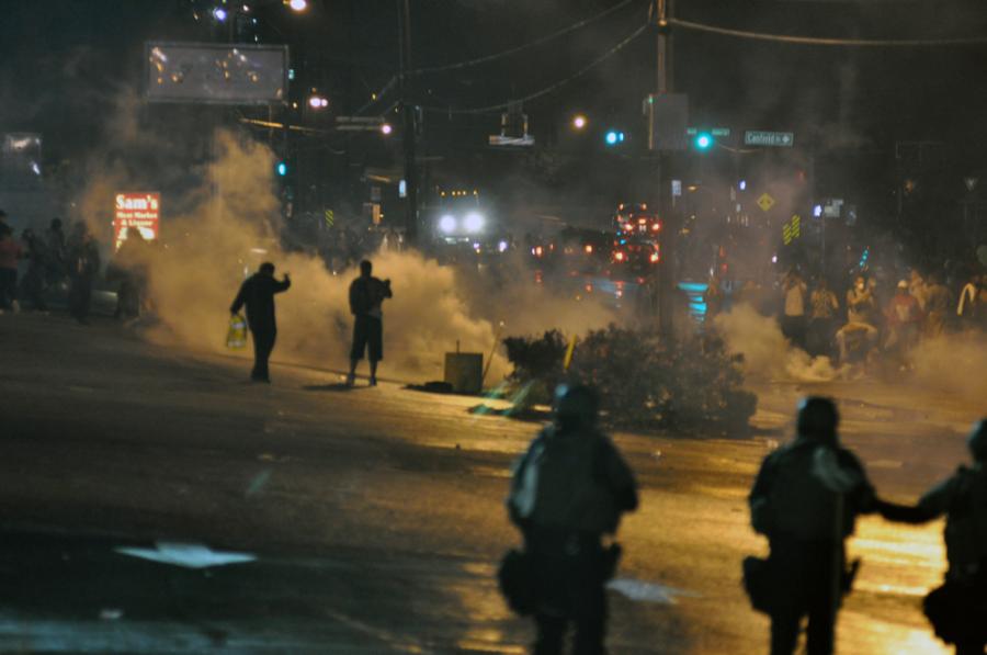 The burning of Ferguson