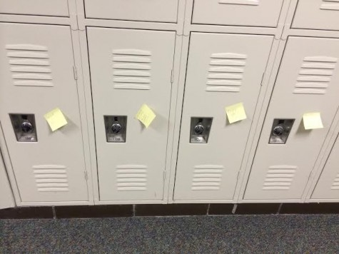 Sticky note surprise greets the students of HHS