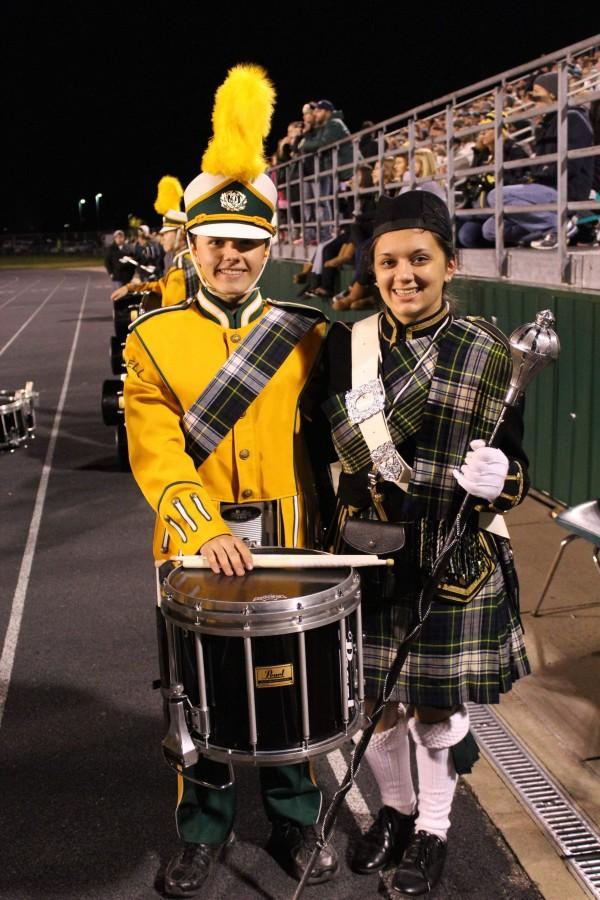 Marching band seniors say goodbye